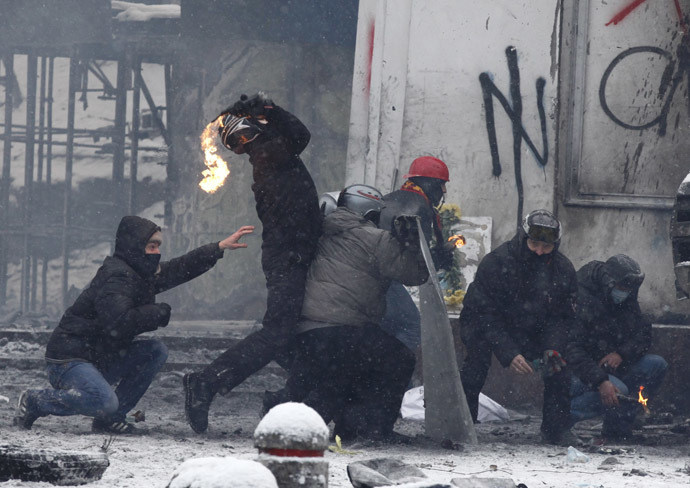 Kiev, January 22, 2014. (Reuters/Vasily Fedosenko)