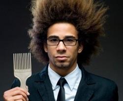 estática en el cabello