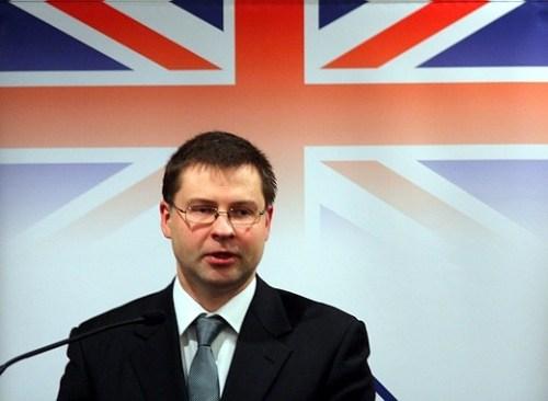 Премьер-министр Латвии Валдис Домбровскис.  Фото Д.Сульжица, NovoNews