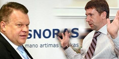 Бывшие руководители банка Р. Баранаускас (слева) и В. Антонов признаны подозреваемыми в хищении имущества в особо крупных размерах.