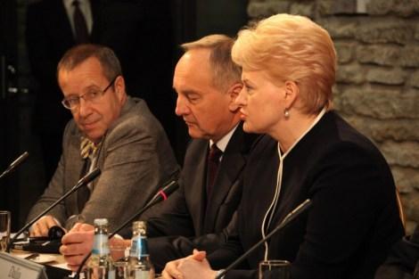 Встреча президентов Балтийских государств в Эстонии