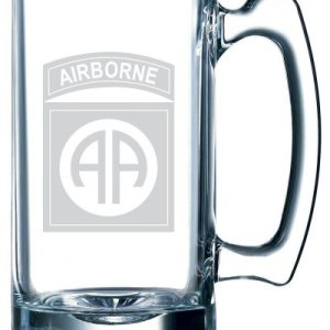 United-States-Army-82nd-Airborne-Division-Etched-25oz-Libbey-Sports-Beer-Mug-0