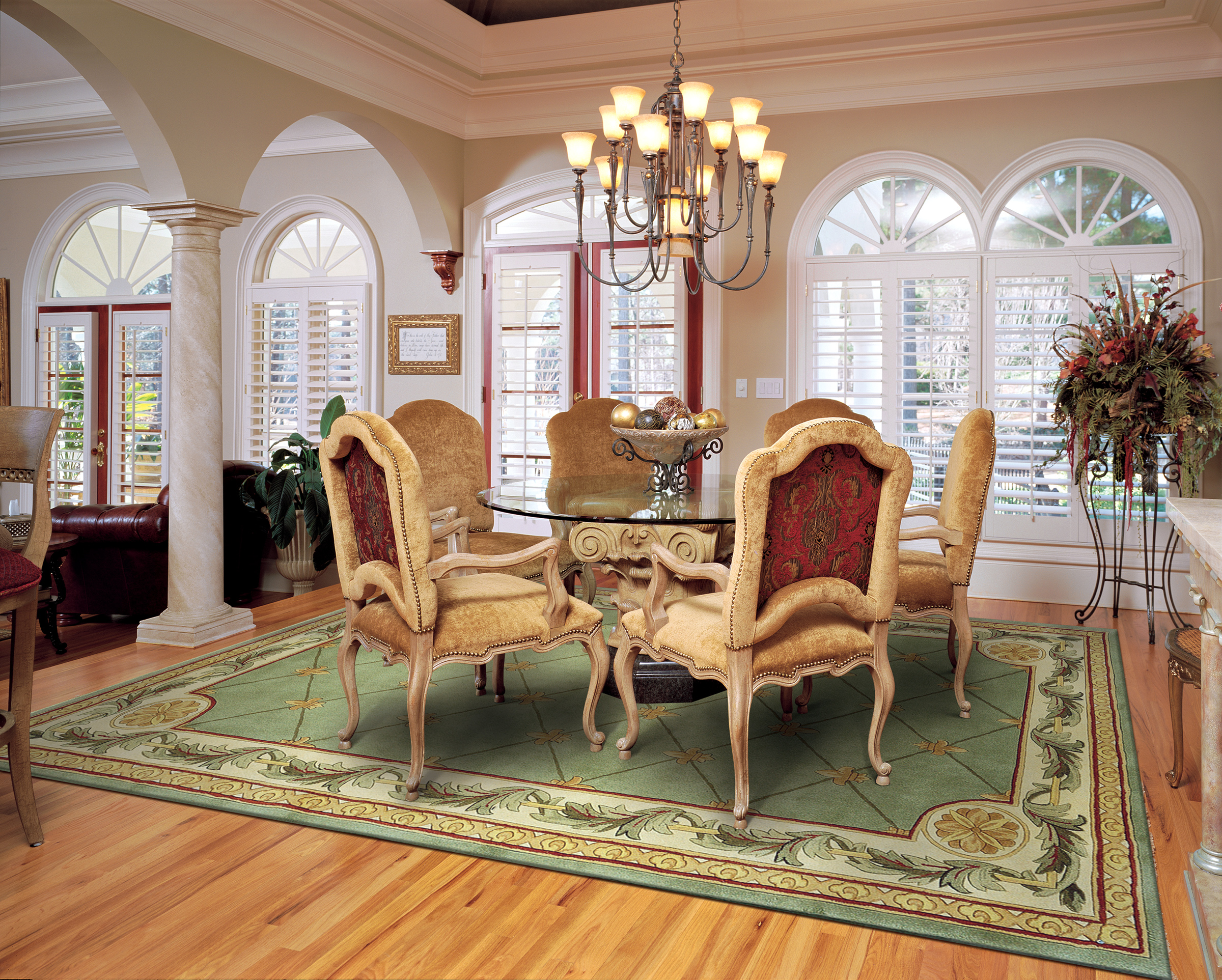 the best size for your dining room rug rugs under kitchen table Leave