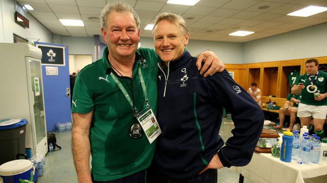 RBS 6 Nations Championship 15/3/2014 Ireland Paddy Rala O'Reilly and Joe Schmidt Mandatory Credit ©INPHO/Dan Sheridan