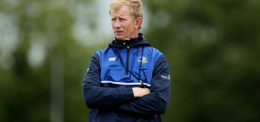 Leinster Ruby Open Training, Endenderry RFC, Edenderry, Offaly 4/8/2015 Interim head coach Leo Cullen  Mandatory Credit ©INPHO/Ryan Byrne