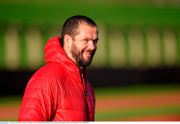 12 January 2015; Munster temporary consultant Andy Farrell during squad training. University of Limerick, Limerick. Picture credit: Diarmuid Greene / SPORTSFILE