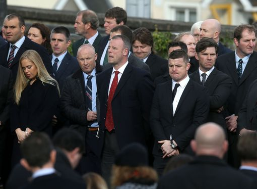 Pics: O'Gara & O'Driscoll Among Former Teammates At Anthony Foley's Funeral