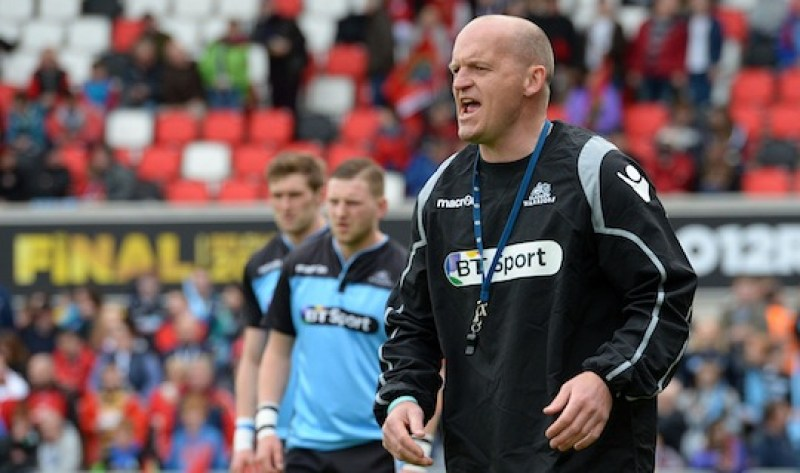 30/05/15 GUINNESS PRO12 FINAL MUNSTER v GLASGOW WARRIORS KINGSPAN STADIUM - BELFAST Glasgow Warriors head coach Gregor Townsend prepares ahead of kick off