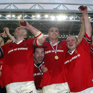 John Hayes, Anthony Foley, Alan Quinlan and Martin Cahill 1/2/2003