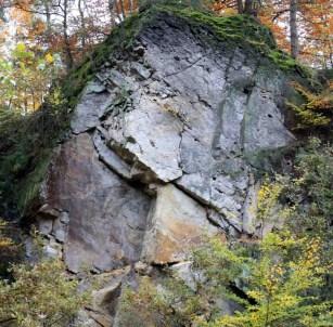 """Der Osning-Sandstein der Unterkreide im Modellgebiet """"Riesenbecker Osning""""."""