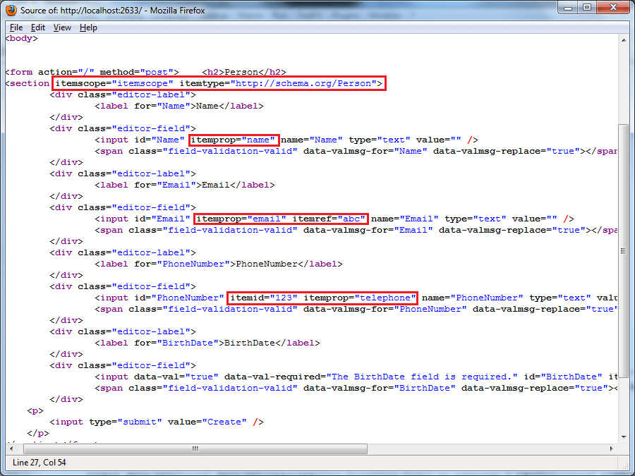 ASP.NET MVC: Add HTML5 Microdata to your applications using Metadata Providers (2/4)