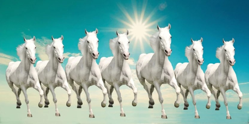 Elegance 7 RUNNING HORSES Canvas Painting Price in India - Buy Elegance 7 RUNNING HORSES Canvas ...