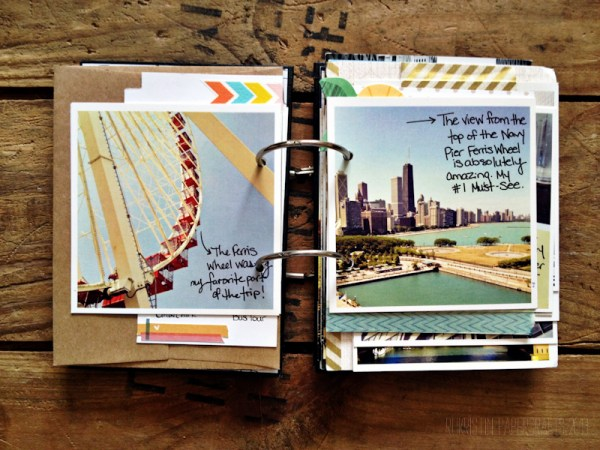 Photos from Navy Pier. Journaling with a fine point sharpie.