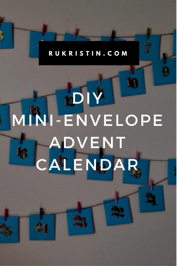 DIY mini envelope advent calendar