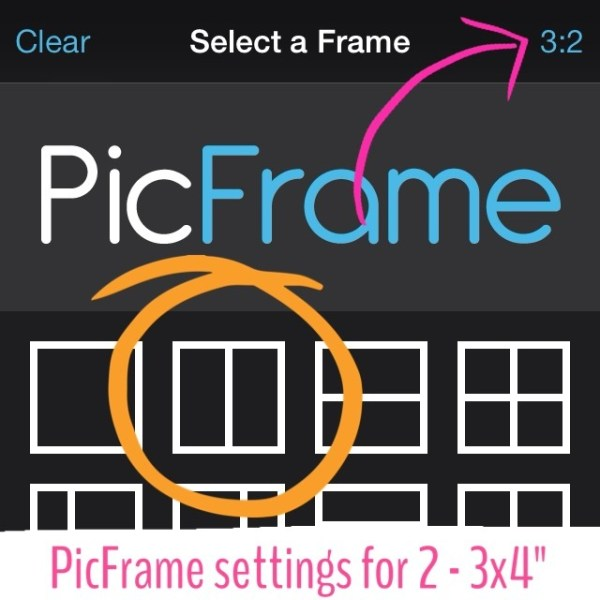 print 3x4 photo 4x6 print using picframe app