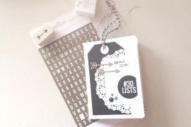 Kate's 30 Days of Lists Album with Notebook Kit from @rukristin