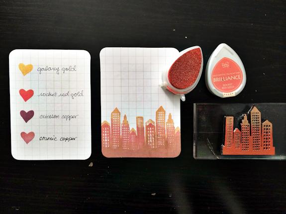 rukristin stamps cityscape tutorial