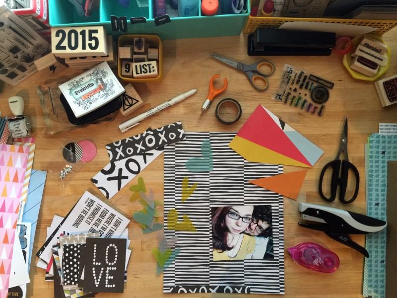 rukristin messy box scrapbook layouts