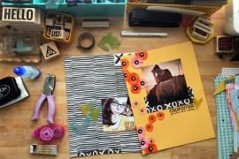 rukristin scrapbook layouts Messy Box kit