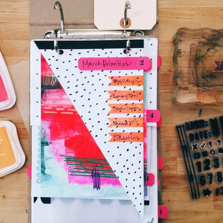 rukristin 30 days of lists art journal