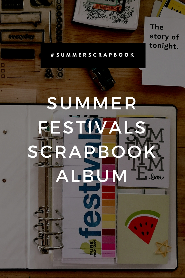 Summer Festivals Scrapbook Album