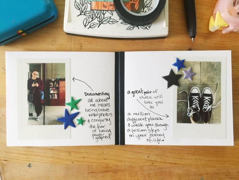 rukristin feminist scrapbooker for Famous Footwear DIY scrapbook