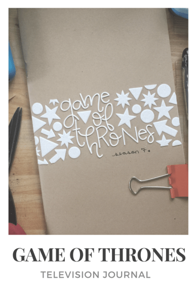 game of thrones television journal
