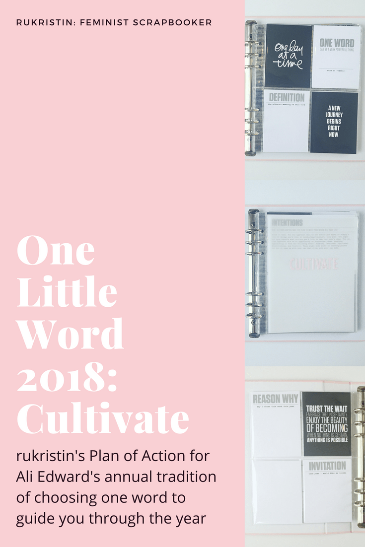 rukristin one little word cultivate