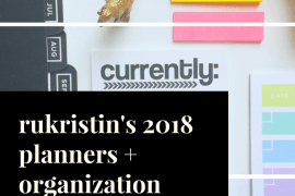 rukristin planner and organization