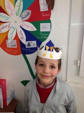 Les CP ont dignement fêté les Rois le jour de l'Epiphanie