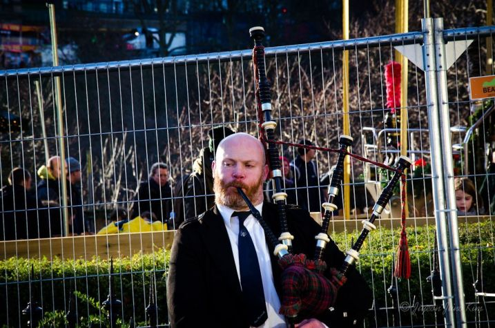 Scottish Bag piper in Edinburgh