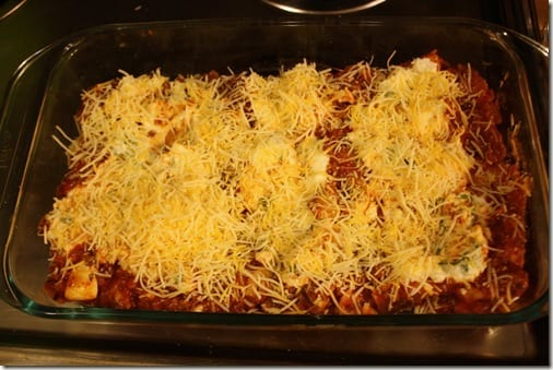 IMG 6680 thumb Meatless Monday– Winging it Lasagna