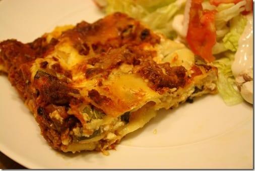 IMG 6701 thumb Meatless Monday– Winging it Lasagna