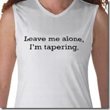 im tapering thumb Marathon Training–Taper Time
