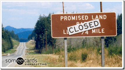 promised land sign thumb Pile On the Miles–Final Results