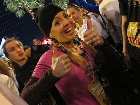 monica with beanie Rock N Roll Las Vegas Half Marathon '11