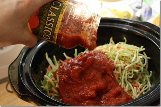 IMG 7849 800x533 thumb Ground Turkey Broccoli Slawghetti Crock Pot Recipe