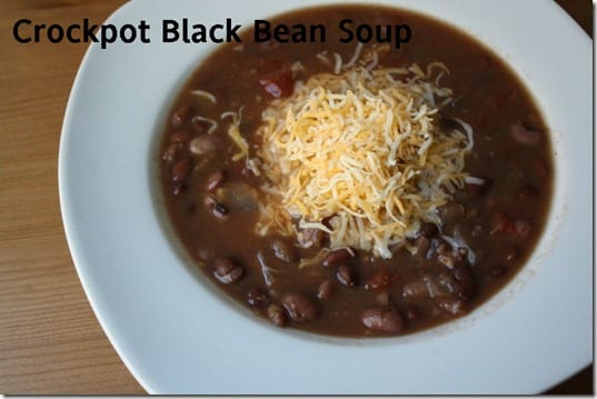 crockpot black bean soup thumb CrockPot Black Bean Soup Recipe
