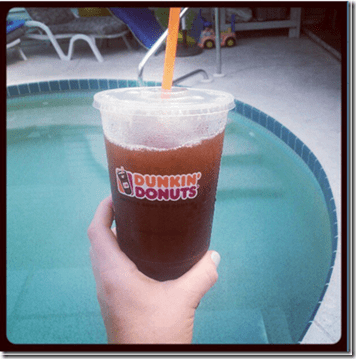 dunkin donuts iced coffee thumb Monica Runs On Dunkin Donuts