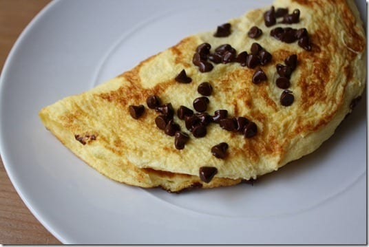 IMG 1561 1024x683 thumb Sweet Omelet with Chocolate Chips Recipe