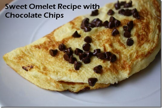 sweet omelet recipe with chocolate chips  thumb Breakfast