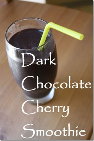 dark chocolate cherry smoothie thumb Dark Chocolate Cherry Smoothie Recipe
