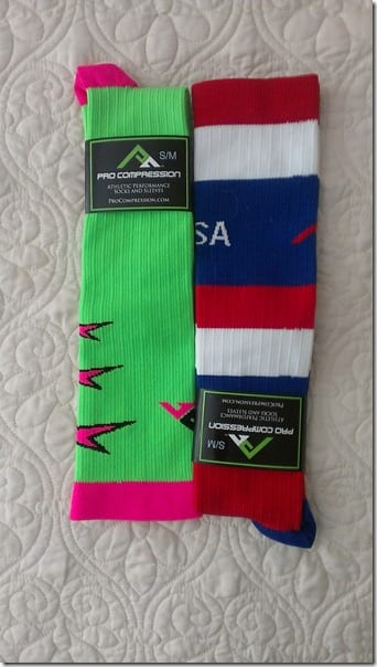 procompression fourth of july socks for race thumb Fitness Fashions–Brooks D'Lite Tank and Shorts