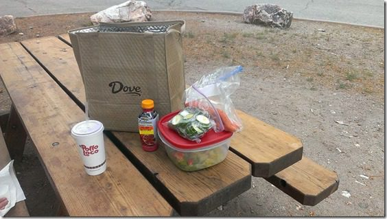 picnic lunch in big bear thumb Xterra Snow Valley Trail 21K Race Recap