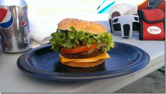 post race hamburger xterra half marathon in snow valley recap 800x450 thumb Xterra Snow Valley Trail 21K Race Recap