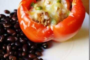 Salsa Stuffed Peppers Recipe