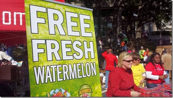 free fresh watermelon 800x450 thumb Marine Corps Marathon Results and Recap