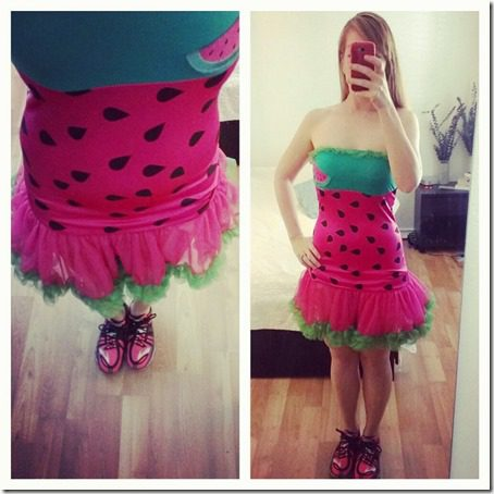 running with watermelon 800x800 thumb Eat More Watermelon at the Marine Corps Marathon