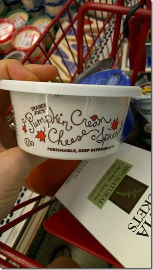 trader joes pumpkin cream cheese 450x800 thumb Trader Joe's Must Haves for Fall