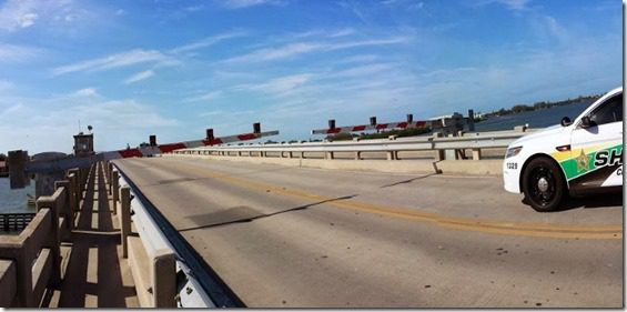 bridge is blocked and cop car 800x309 thumb My Christmas Day 2013